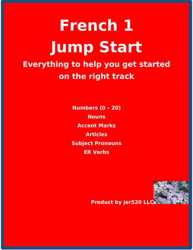 French 1 Jump Start Distance Learning