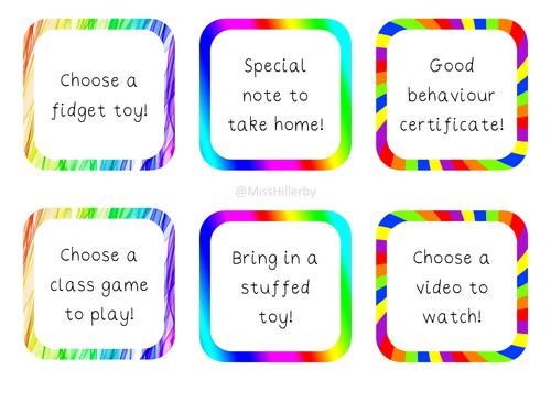 Rainbow Reward Tokens