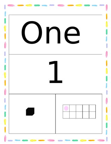 Pastel Number Flashcards