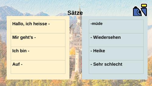 CONTI - year 7 beginners Hallo/wie geht's - activities