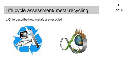 Edexcel recycling metals CC11d