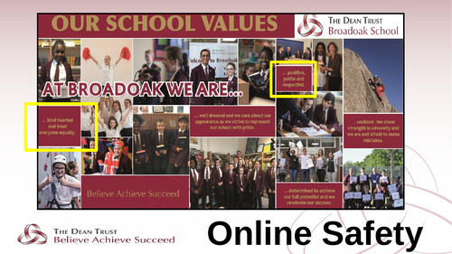 Online Safety Assembly - KS3 and 4