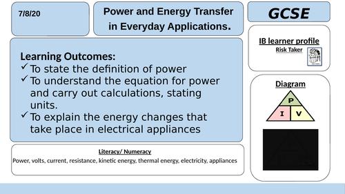 6.2.4 Energy Transfers (AQA GCSE Physics)