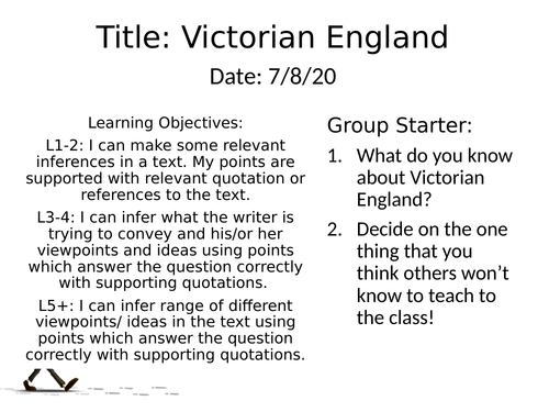 Complete KS3 SOW - Non-Fiction Victorian England