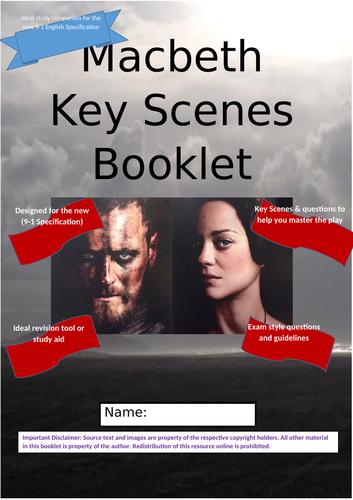 Macbeth- Key Scenes Revision Booklet