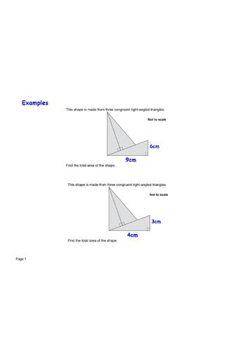 Congruent triangle area exam question