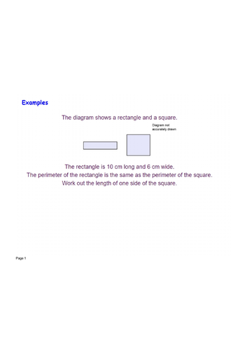 Perimeter rectangle square