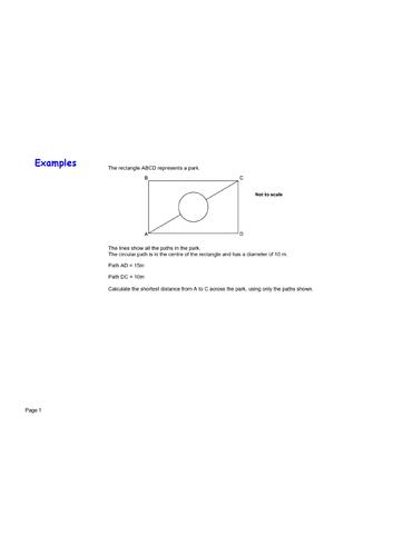 Pythagoras and circumference exam question