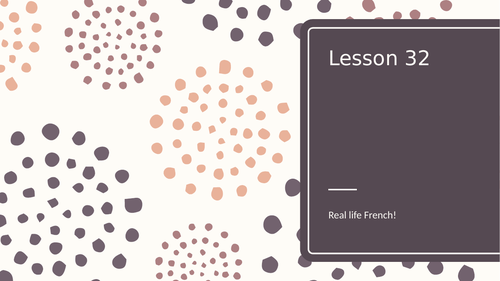 Real life French - full lesson