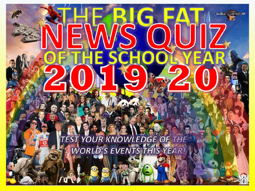 The Big Fat News Quiz of the School Year 2019-2020 End of Summer Term Form Activity Cover Lesson
