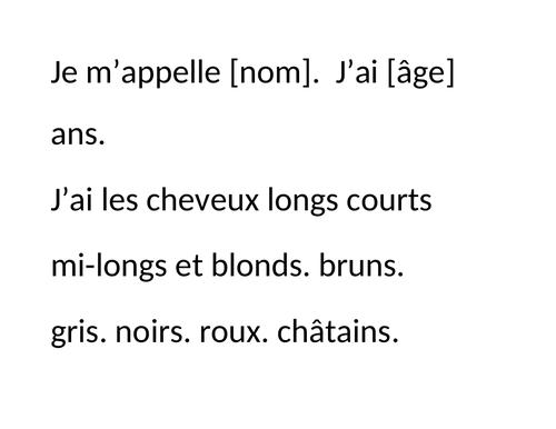French - Sentence Builder