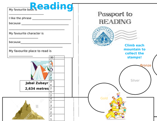 Reading Passport -and stamps 30 day challenge