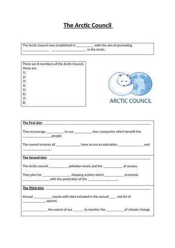 The Arctic Council (OCR GCSE)