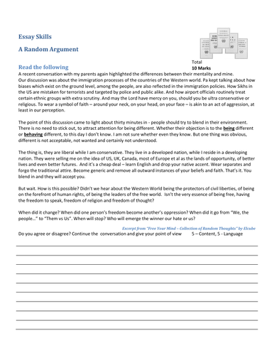 Essay Practice - Argumentative (Social Identity)