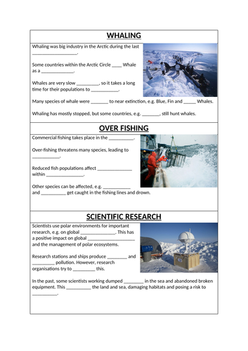 Human Impacts on the Arctic (OCR GCSE)