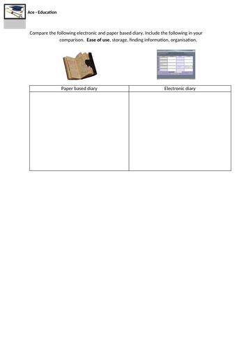 ICT- ELECTRONIC VS PAPER