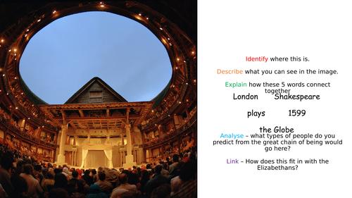 AQA - The Elizabethans - The Theatre - 3 lessons