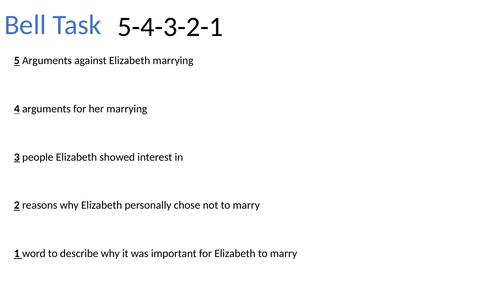 AQA GCSE - The Elizabethans - Elizabeth's relations with parliament