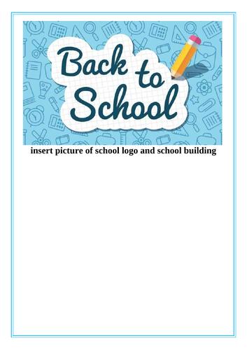 Return to school transition book