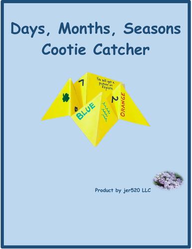 Days Months Seasons Cootie Catcher