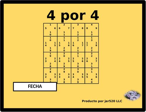 Fecha (Date in Spanish) 4 by 4
