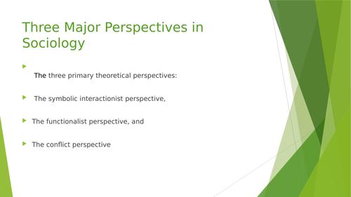 Theories used in interpretations in Sociology
