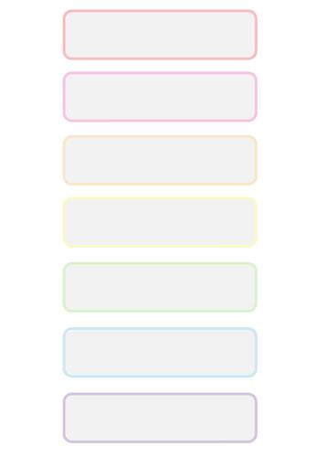 Rainbow Tray Labels