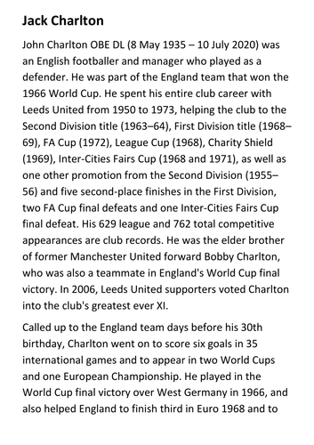 Jack Charlton Handout