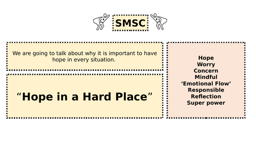 SMSC / PSHE Hope in a hard place - COVID Comics