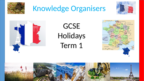 GCSE Edexcel and AQA French holiday Knowledge organisers