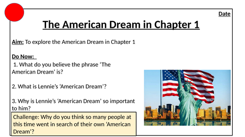 The American Dream in Chapter 1: Of Mice and Men
