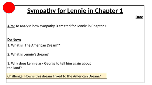 Sympathy for Lennie in Chapter 1 Of Mice and Men