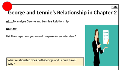 George and Lennie's Interview in Of Mice and Men