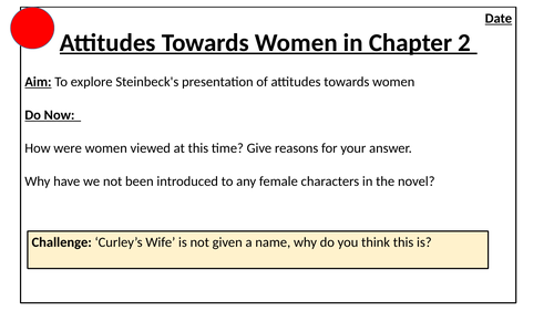 First Impressions of Curley's Wife Of Mice and Men