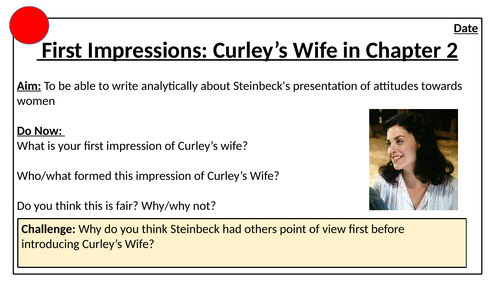 First Impressions of Curley's Wife in Of Mice and Men