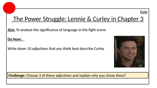 Lennie and Curley Fight in Of Mice and Men