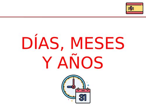Days of the week, months and years in Spanish