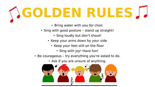 Golden Rules for Choir