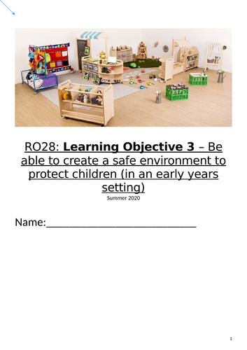 OCR RO28: Create a safe environment to protect children (LO3)