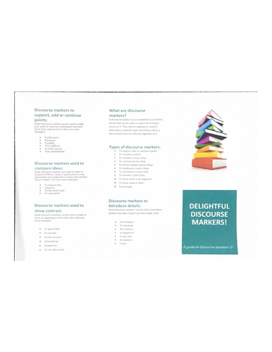 English Language discourse marker guide