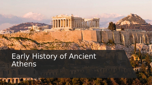 The Early History of Ancient Athens
