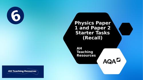 GCSE AQA Physics Trilogy P1/P2 Starters