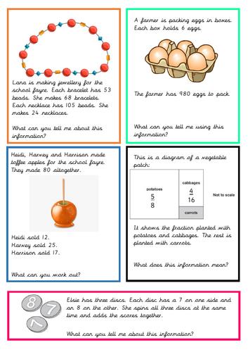 Goal Free Mathematics Question Cards
