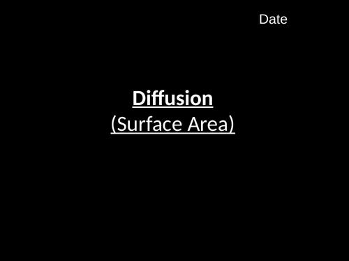 Diffusion-Surface Area (B1.6)