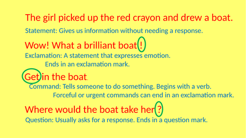 Statement, question, command powerpoint