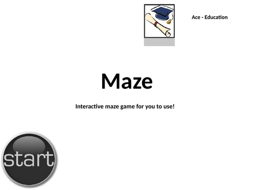 ICT - SIMPLE & INTERACTIVE MAZE GAME