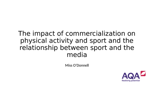 AQA A Level PE Chapter 6.7 Commercialisation