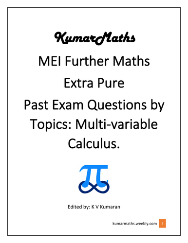 MEI Further Maths : Multi-variable Calculus