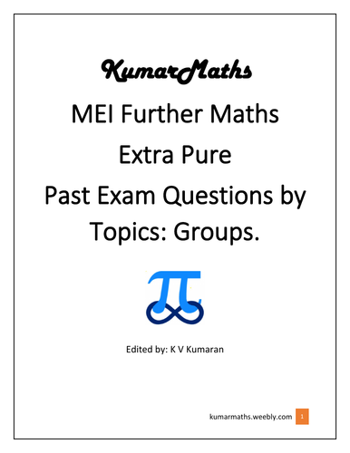 MEI Further Maths Extra Pure: Groups.