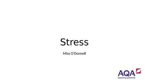 AQA A Level Chapter 5.1 Stress Management